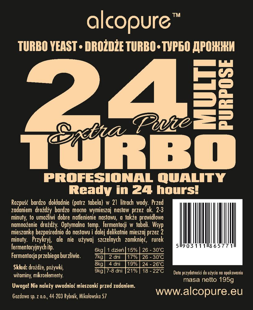 Turbo Yeast - 24 Pure